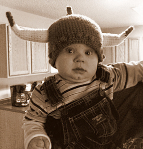 Viking Pride Hat :: Free #Crochet Halloween Costumes for Babies!