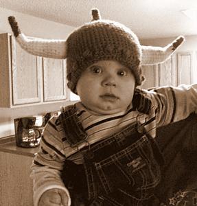 Viking Pride Hat :: Free #Crochet Halloween Costumes for Babies!