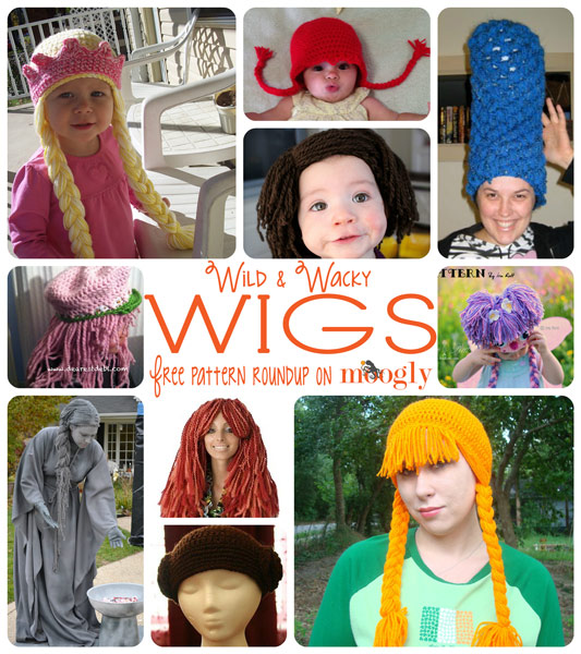 Wild   Wacky Free  Crochet Wig Patterns - perfect for  Halloween 10ca8f91cb4