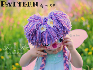 How to Make Yarn Hair - a step by step tutorial :: Free Crochet Wig Patterns