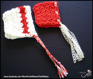 Chunky Christmas Bonnet :: Free Holiday #Crochet Patterns for Babies!
