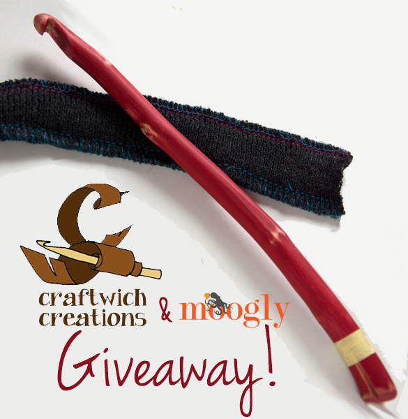 Craftwich Creations Crochet Hook Giveaway on Moogly! Entry period ends December 2nd, 2013 at 12am Eastern.