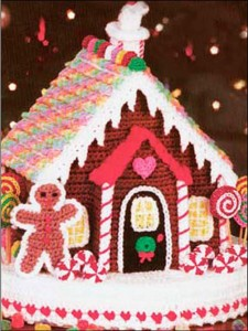 Crochet Gingerbread House :: Bake (or Make!) A Dozen Free #Crochet Gingerbread Patterns