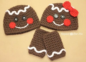 Crochet Gingerbread Man Hat :: Bake (or Make!) A Dozen Free #Crochet Gingerbread Patterns