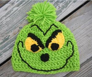 Grinch Hat, pattern on Craftsy!