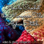 Moroccan Tile Afghan Stitch Tutorial