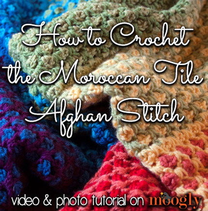 How to #Crochet the Moroccan Tile Afghan :: a photo and video tutorial for this amazing stitch!