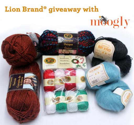 Lion Brand Giveaway on Moogly! Giveaway ends November 26th at 12am Eastern.