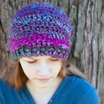 Luscious One Skein Hat :: free #crochet pattern (fingerless mitts and cowl patterns to match too!)