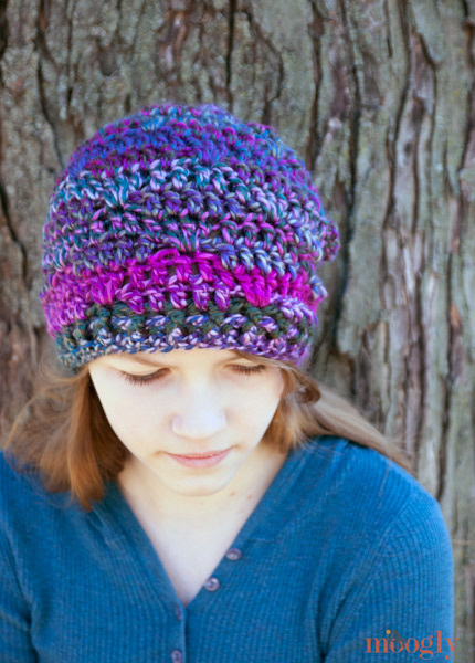 Free Pattern Luscious One Skein Crochet Hat