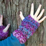 Luscious One Skein Fingerless Mitts (and cowl and hat too!) - Free #crochet patterns!