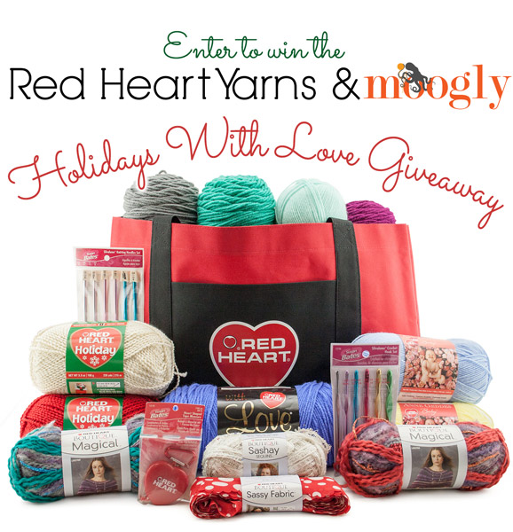 Enter to win yarns and notions worth $125 from Red Heart Yarns! Giveaway on Moogly ends 11/12/13