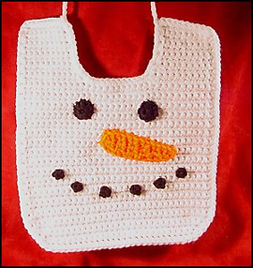 Snowman Baby Bib :: Free Holiday #Crochet Patterns for Babies!