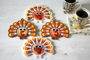 Turkey Coasters :: Free Crochet Turkey Patterns!