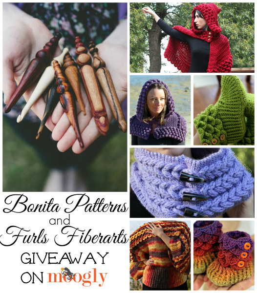 Bonita Patterns and Furls Fiberarts Crochet Hook Giveaway on Moogly! Entry period ends 12/19/2013