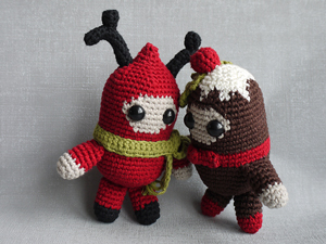 Christmas Spirits :: Free #Crochet Ornament Patterns
