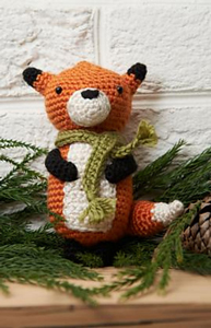 Fox Ornament :: Free #Crochet Ornament Patterns