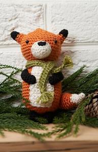 Fox Ornament :: Free #Crochet Ornament Patterns
