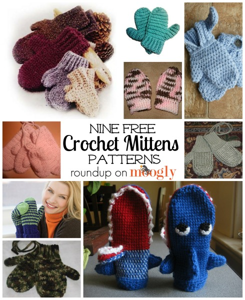 9 Free #Crochet Mittens Patterns! Roundup on Moogly!
