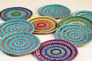 Roller Coasters :: Great free #crochet gift patterns that take 100 yds of yarn or less!
