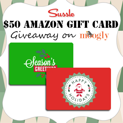 Sussle is giving away 2 $50 Amazon Gift Cards on Moogly!