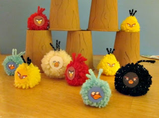 Angry Birds Pom Poms! Great craft for kids!