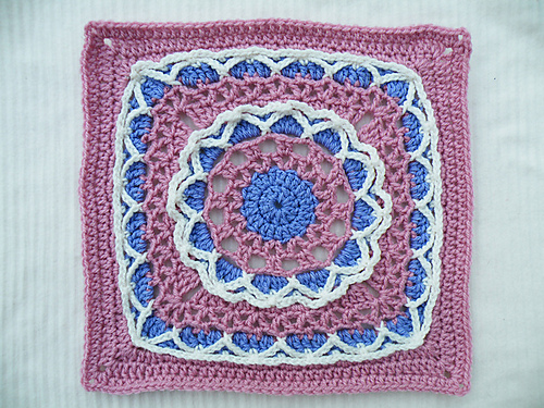 Block #1 for the Moogly 2014 CAL - Anticipation Mystery Afghan Square by Margaret MacInnis