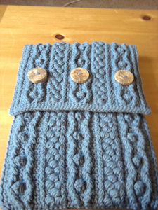 Bobble Wrap Laptop Sleeve: Free #Crochet Pattern