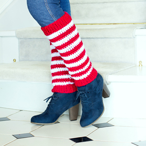 Candy Cane Leg Warmers: Free #crochet leg warmers pattern