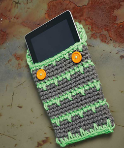 Crocheted Tablet Cover: Free #Crochet Pattern