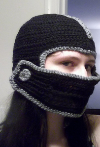 Helmet with Visor: Free #crochet and #knit balaclava patterns to keep you warm this winter!