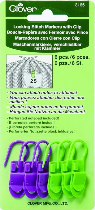 Locking Stitch Markers with Clips: new and great products for #knit and #crochet!