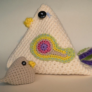 Mama Chicken Bag: Free #Crochet Chicken Patterns!