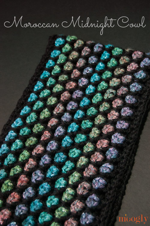 Moroccan Midnight Cowl: free #crochet pattern!