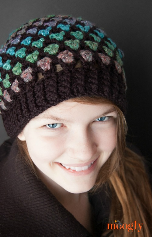 Moroccan Midnight Slouch Hat - Free #Crochet Pattern!