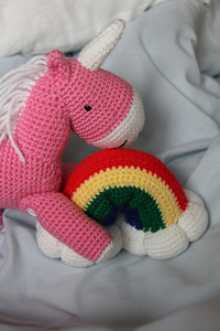 Reuben the Unicorn: Free #crochet unicorn pattern