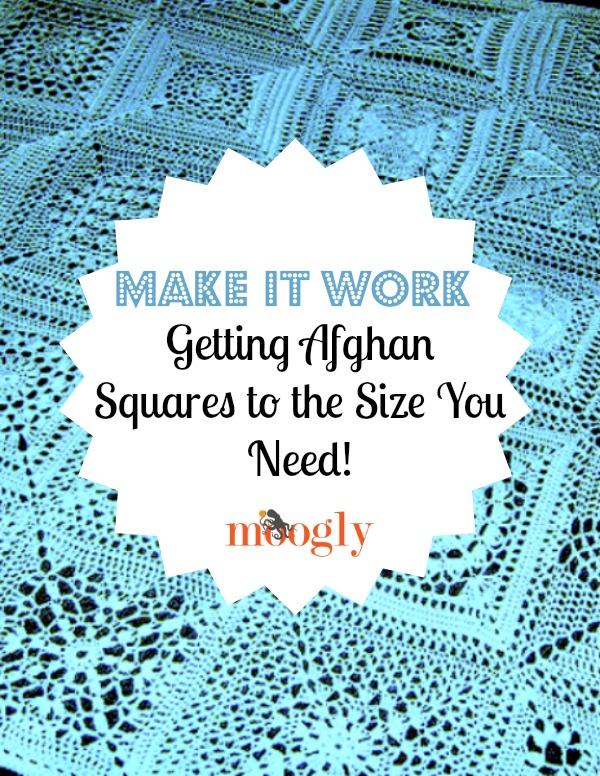 When you make an afghan from squares, size is a factor. You're going to want to get each square as close to the target size as possible. Here's how! #crochet