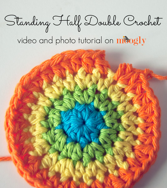 Crocheting Hdc : Standing Half Double Crochet: Starting a row of HDC without a slip ...