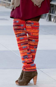 Thigh High Leg Warmers : Free #crochet leg warmers pattern