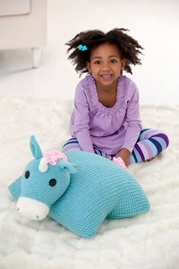 Unicorn Pillow Pal: Free #crochet unicorn pattern
