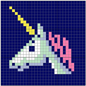 Unicorn Tile: Free #crochet unicorn pattern