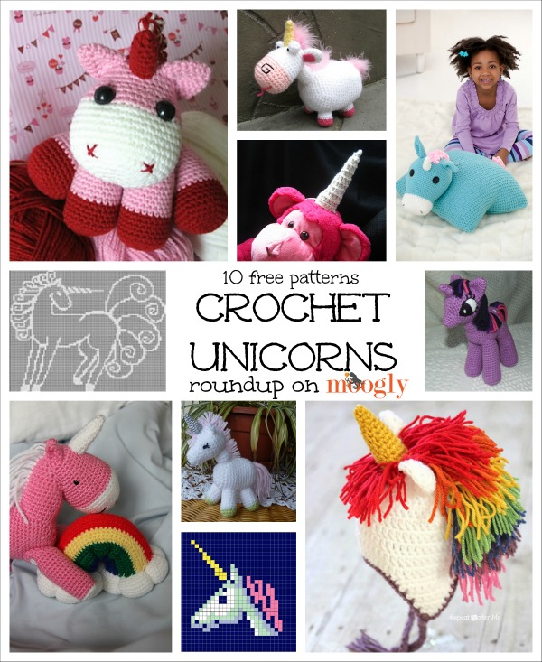 10 Free Unicorn #Crochet Patterns!