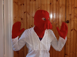 Zoidberg! Free #crochet and #knit balaclava patterns to keep you warm this winter!