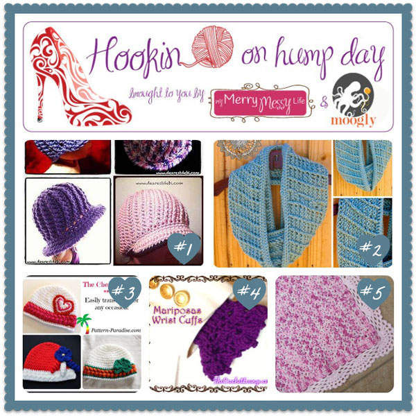 The hottest new projects on Hookin On Hump Day! Click to check them out and then add your own! #crochet #knitting and #sewing blogs are all invited!