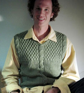 d8bc0a915 Adventuring Sage Cable Vest  Men s Crochet Sweaters - free patterns your  guy will love!