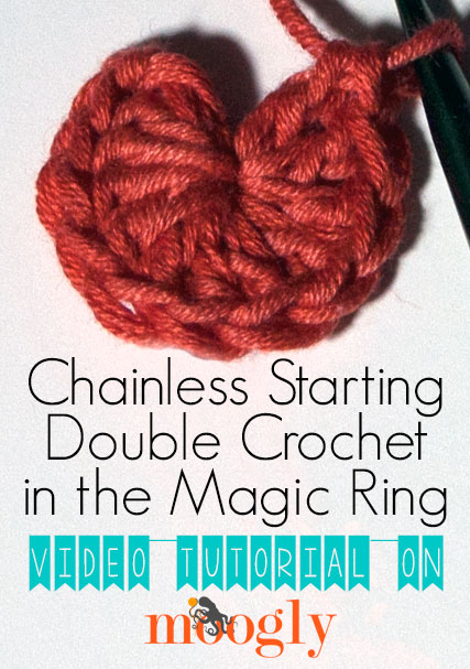 Learn how to crochet the Chainless Starting Double Crochet in the Magic Ring, and have the perfect start to all of your circular projects! Great video tutorial on Moogly! #crochet