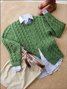 Cabled Jacket: Men's Crochet Sweaters - free patterns your guy will love! #crochet