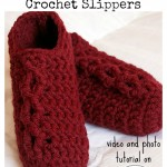 Simple Chunky Cable Crochet Slippers Tutorial