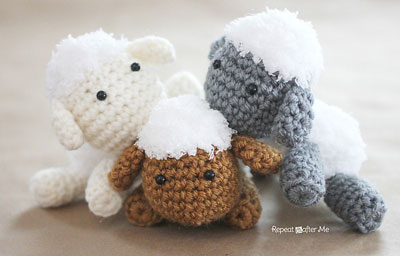 Crochet Lamb by Repeat Crafter Me
