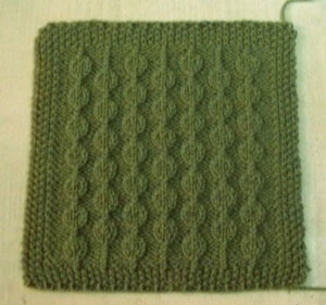 Dot-to-Dot Blanket Square: Free #Knit Afghan Square roundup on Moogly!